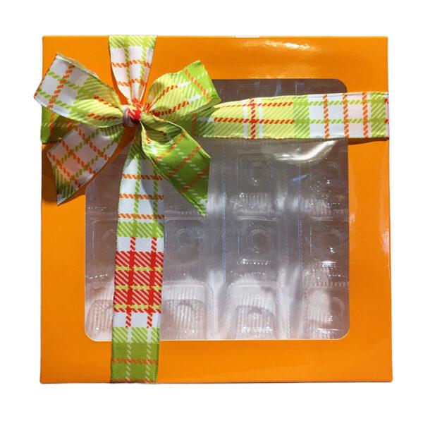 Boîte carrée 1lb, Orange