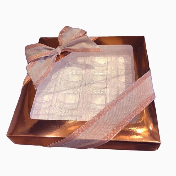 Boîte 1lb carrée, Rose Gold