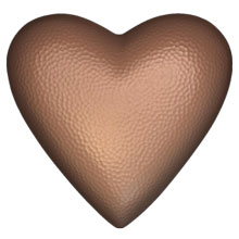 Coeur effet martelé