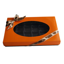 Orange, 1lb rectangular box