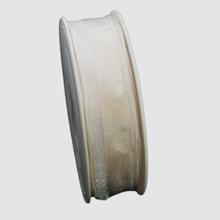 Ivory ribbon with semi-transparent border