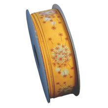 Yellow orange, dandelion pattern ribbon