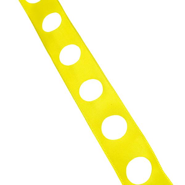 Yellow, cutouts circle Ribbon