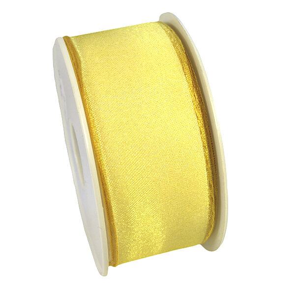 Sheer ribbon, light yellow