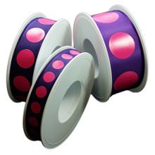 Purple ribbon with fuchsia circles
