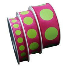 Fuschia ribbon and lime green