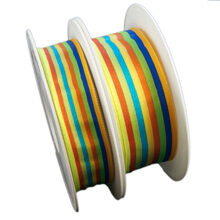 Lined ribbon, blue multicolor