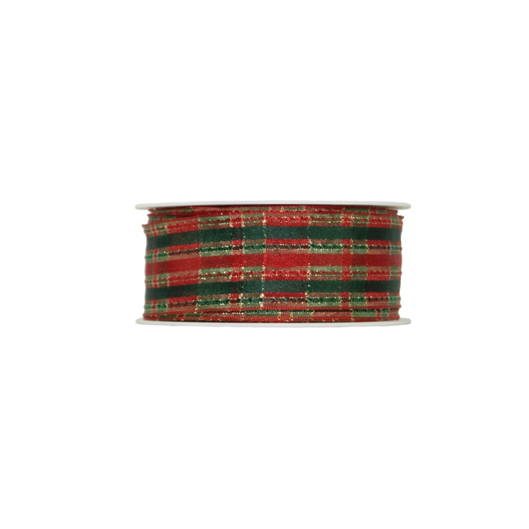 Christmas tartan ribbon