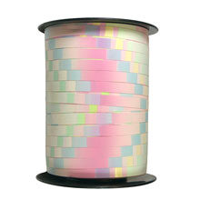 "Patterned ribbon, ""Pixel"" pink pastel"
