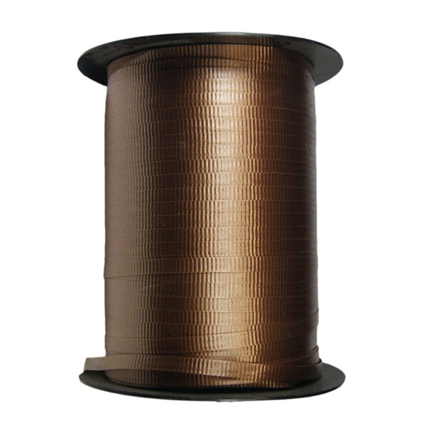 Brown crimped ribbon