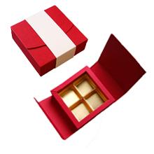 Antalis, red and cream 4ct Folding Box