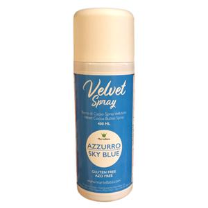 """""""Velvet Spray"""" alimentaire bleu"""