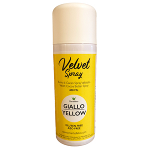 """Velvet Spray"" alimentaire jaune pastel"