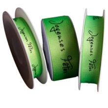 "Green Sparkle ""Joyeuses Fêtes"", Ribbon"