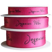 "Pink Sparkle ""Joyeuses Fêtes"", Ribbon"