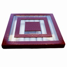 Boite Labyrinthe rouge croco, 90ct