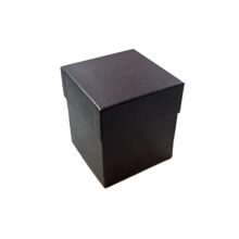 4 tiered Bordeaux leather box