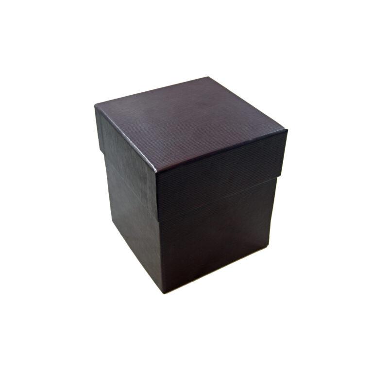 Boîte Bordeaux illusion cuir, à 4 étages