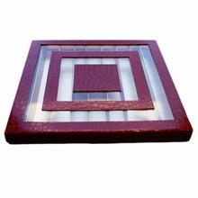Boite Labyrinthe rouge croco, 56ct