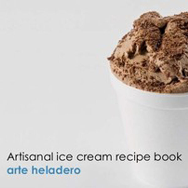 """Artisanal Ice Cream Recipe Book,""  Version Anglaise et Espagnole"