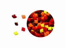 Paillettes confettis mini feuilles d'automne
