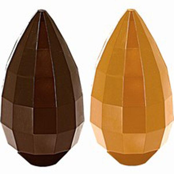 Moule oeuf chocolat à facettes