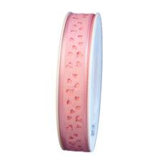 Heart cut light pink ribbon (0.5in)