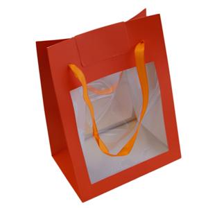 Sac Orange, T2, fermeture auto-collante