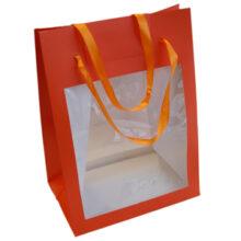 Orange bag, T3, self-adhesive closure