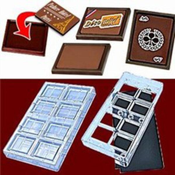Kit Moule chocolat aimanté pour cartes