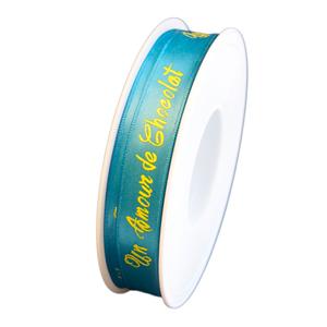 """Blue ribbon, """" un amour de chocolat"""", 15mm"""