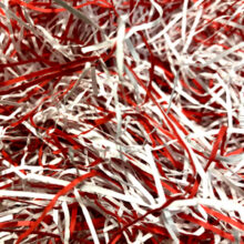 Candy cane, paper shred