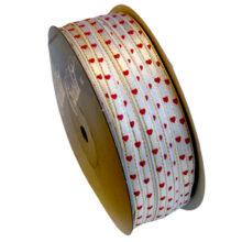 Valentine's Day Cream Satin Ribbon