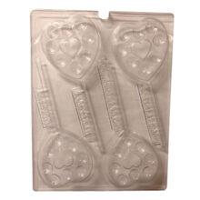 V252, Heart lollipop mold