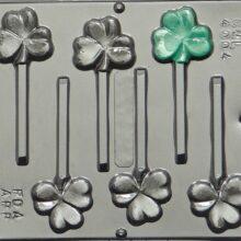 Lollipop molds, Three Leaf Clover (4)