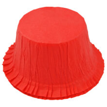Rigid red cupcake liners