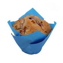 Blue Tulip shape cupcake liners