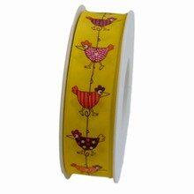 ''Farandole de Poules'' ribbon, 25mm