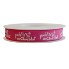 """""""Ma Poulette"""" fuschia ribbon,15mm"""