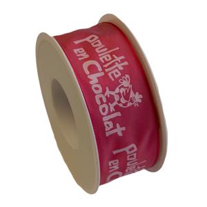 """""""Ma Poulette"""" fuschia ribbon 40mm"""