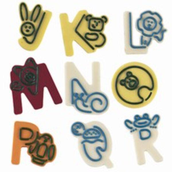 Moule à décorer lettres J à R