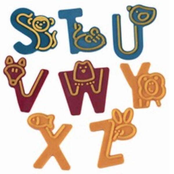 Moule à décorer lettres S à Z
