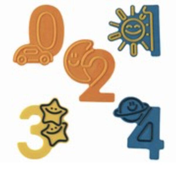 Moule à décorer chiffres 0 à 4