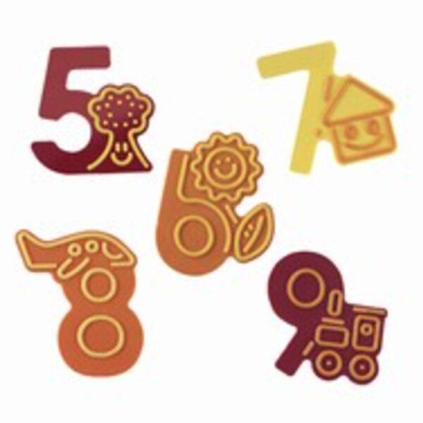 Moule à décorer chiffres 5 à 9
