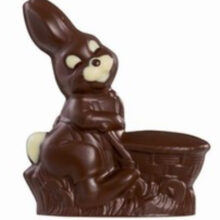 3D Chocolate Mold of Rabbit with a Basket