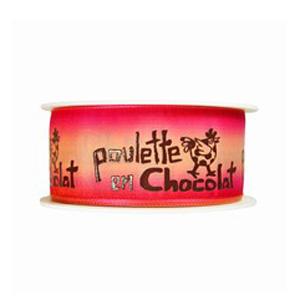Pink Ombre 'Poulette en Chocolat' Ribbon (1.6in)