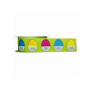 Ruban déclinaison d'oeufs sur vert (40mm)
