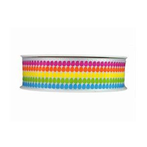 Multicoloured Egg Print Ribbon (25mm)