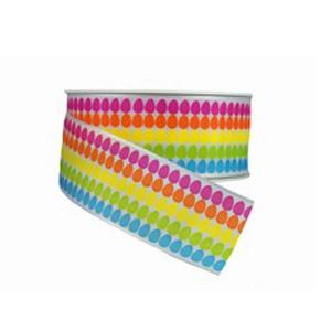 Multicoloured Egg Print Ribbon (40mm)