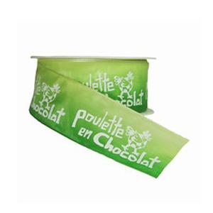 Poulette en chocolat ombré vert (40mm)